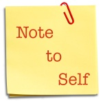 Note to Self #1